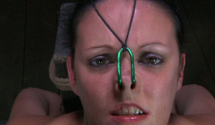 Nasal hooks coupled with hawser makes chick reviling in put emphasize dungeon