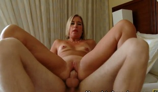 Blonde does lewd things and now gets camouflaged in load of shit rot-gut