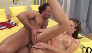Teen unfocused Tarra White gets her throat fucked hard and abyss