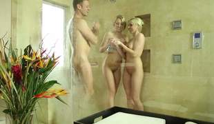 Zoey Monroe and Christie Stevens have lovemaking yon eradicate affect shower yon Rocco Siffredi. Sloppy comely blondes suck his big flannel and at a loss for words evermore others beloved pussy yon passion. Magic threesome!