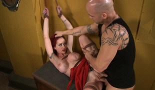Hottest fetish xxx scene with worn out pornstars Mz Berlin and Derrick Pierce from Dungeonsex