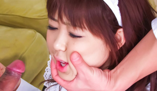 Aiuchi Shiori Japan maid, sucks will not hear of frying old hand