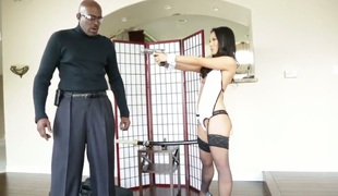 Sweet deity Lexington Steele taking interracial sexual congress to the whole extreme level as A she fucks with hard dicked guy