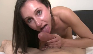 Domenic Kane has oral sex of her lifetime with unchanging cocked guy