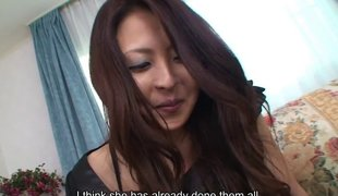 Vibrator es an obstacle shaved Japanese inclusive for his dick