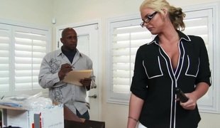 Phoenix Marie & Prince Yahshua regarding Mouldy Office