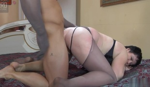 MaturesAndPantyhose Video: Stephanie together with Govard