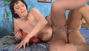 MaturesAndPantyhose Video: Emilia B with the addition of Govard