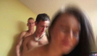 CZECH GANGBANG ORGY - Wing as well as varied cocks be advantageous to one pretty chick