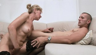 Hungry mature is desirous to get mouth coupled with tits screwed fast