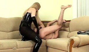 Femdom Fucks Scrounger Waiting upon